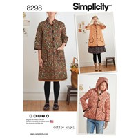 Simplicity Women's Coat And Jacket Sewing Pattern 8298