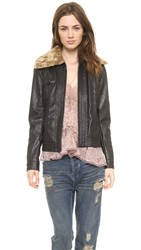 Free People Aviator Jacket Black