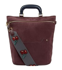 Anya Hindmarch Small Orsett Suede Bag Female Red