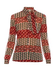 Red Valentino Printed Silk Blend Blouse Multi