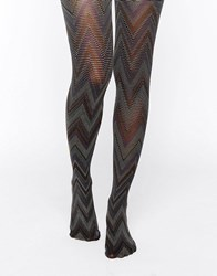 Gipsy Psychedelic Chevron Tights Multi