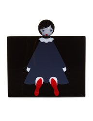 Lulu Guinness Black Perspex Chloe Doll Clutch