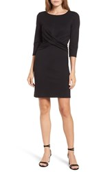 Gibson Knot Front Stretch Knit Body Con Dress