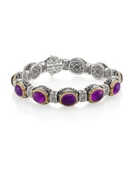 Konstantino Erato Amethyst 18K Yellow Gold And Sterling Silver Bracelet Silver Multi