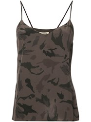 L'agence Camouflage Print Camisole Grey