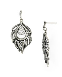 Kendra Scott Emelia Drop Earrings Antique Silver