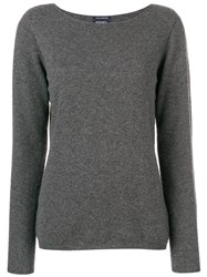 Woolrich Square Neck Sweater Grey