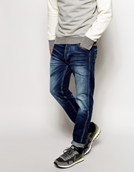 Jack And Jones Jack And Jones Jeans With Blasting In Tapered Fit Midblue