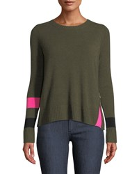 Lisa Todd Sneak Peek Cashmere Sweater W Peekaboo Side Zipper Kale