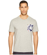 Jack Spade Poppy Flower Pocket Tee Heather Grey Men's T Shirt Gray