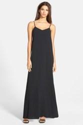 Leith Side Slit Maxi Dress Juniors Black