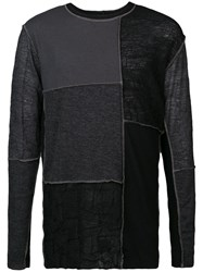 The Viridi Anne Patch Detail Sweater Black
