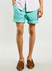 Topman Washed Mint Chino Shorts Green