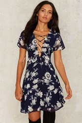 Lou Fit And Flare Dress Blue
