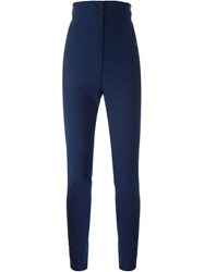 Romeo Gigli Vintage High Waisted Trousers Blue