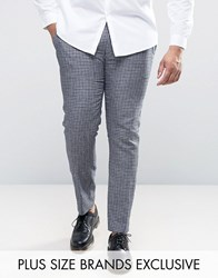Heart And Dagger Plus Skinny Gingham Check Trouser Blue
