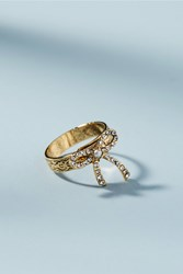 Anthropologie Petite Bow Ring Gold
