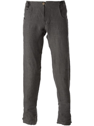 A Diciannoveventitre Slim Fit Trousers Grey