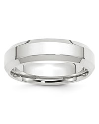 Bloomingdale's 6Mm Bevel Edge Comfort Fit Band In 14K White Gold 100 Exclusive
