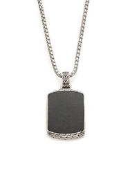 John Hardy Classic Chain Batu Black Jade And Sterling Silver Pendant Necklace Silver Black