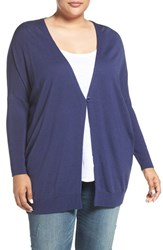 Sejour Plus Size Women's Dolman Sleeve Merino Blend Cardigan