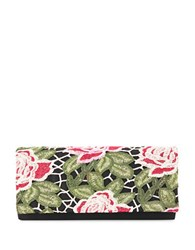 Adrianna Papell Spencer Roll Clutch Black Multi Colored
