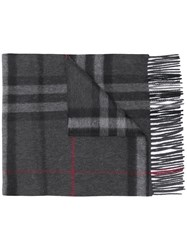 Burberry The Classic Check Scarf Grey
