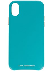 Anya Hindmarch 117081 Turquoise Iphone X Blue