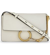 Chloe Faye Small Leather Satchel Off White