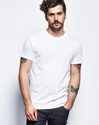 Brave Soul Bravesoul Short Sleeve T Shirt With Rolled Sleeves White