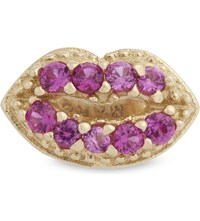 Marc Jacobs Crystal Lips Single Stud Earring Red Gold