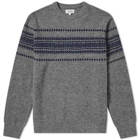 Hartford Jacquard Crew Knit Grey
