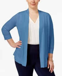Charter Club Plus Size Open Front Cardigan Only At Macy's Smokey Sky