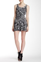 Necessary Objects Printed Fit And Flare Dress Multi