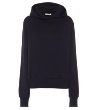 The Row Wren Cotton Hoodie Blue