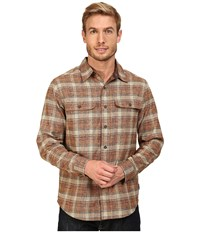 Royal Robbins Performance Flannel Long Sleeve Overshirt Fox Men's Long Sleeve Button Up Brown