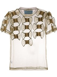 Viktor And Rolf Too Many Bows T Shirt Green