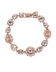 Givenchy White Metal And Glass Stone Bracelet Pink