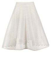 Tfnc Aline Skirt Cream Gold Off White
