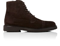 Ermenegildo Zegna Men's Cap Toe Boots Dark Brown