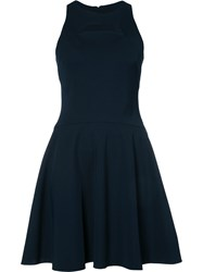 Cushnie Et Ochs Cut Out Dress Blue