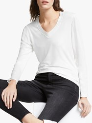 And Or Louisa V Neck T Shirt Ivory
