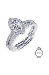 Lafonn Joined At The Heart Marquise Halo Ring Silver Clear