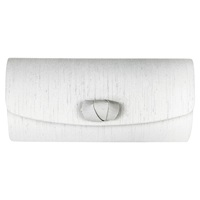 Jacques Vert Curl Detail Clutch Bag Light Grey