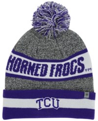 Top Of The World Tcu Horned Frogs Cumulus Knit Hat Gray Purple