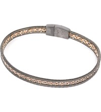 Tateossian Capri Ruthenium And Rose Gold Plated Bracelet Ruthenium Black