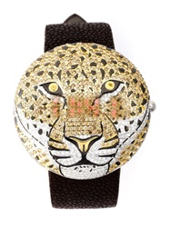 Christian Koban 'Clou' Animal Dinner Watch Brown