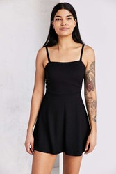 Silence And Noise Square Neck Fit Flare Mini Dress Black