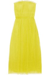 Jason Wu Swiss Dot Tulle Dress Chartreuse