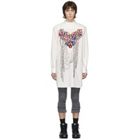 Comme Des Garcons Homme Plus White A Pattern Pearl Bead Embroidery Shirt